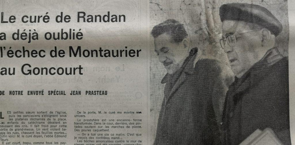 curé de Randan, Montaurier