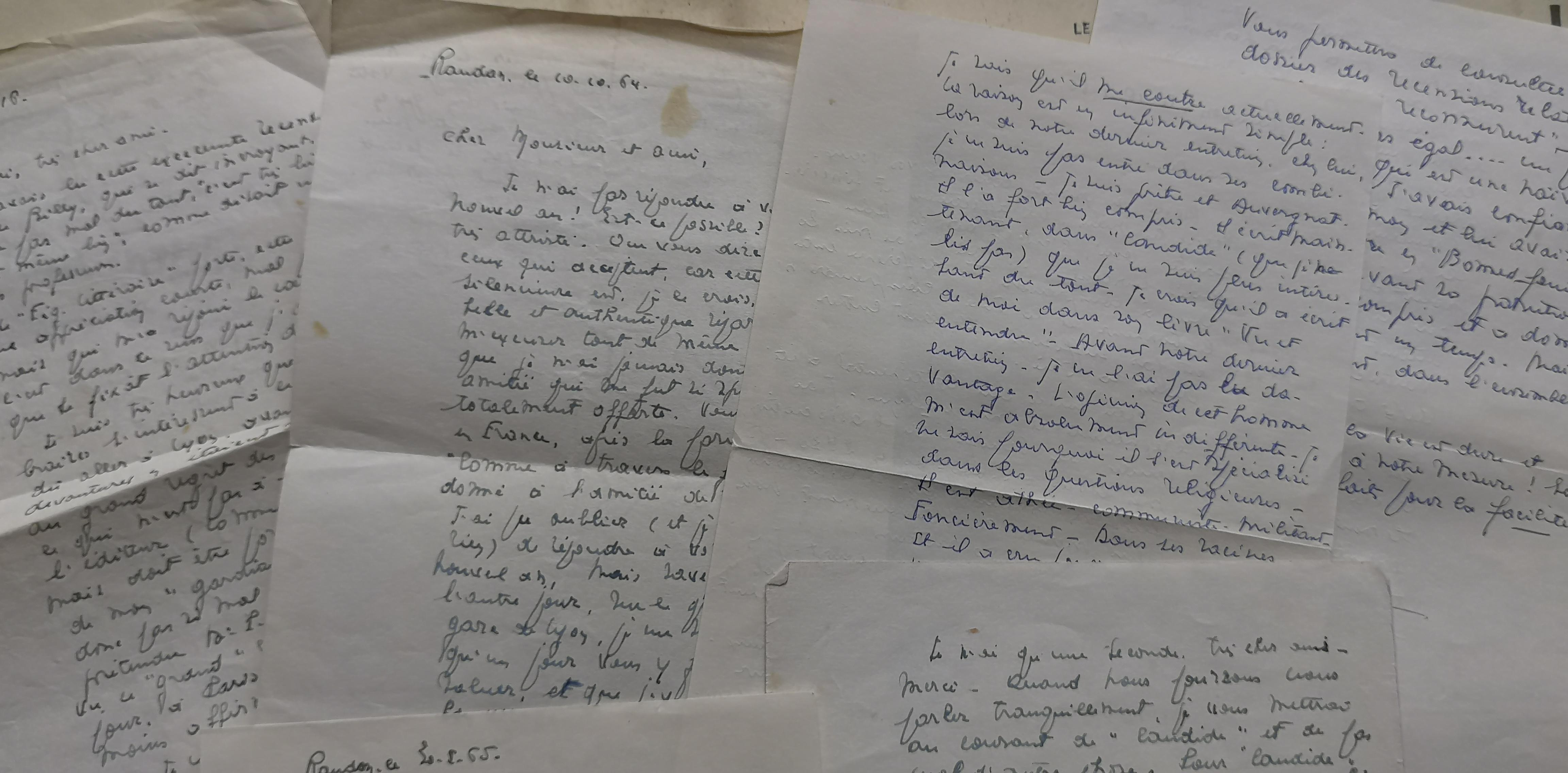 Jean  Montaurier, lettres